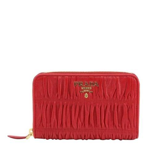 Prada Red Leather Purse