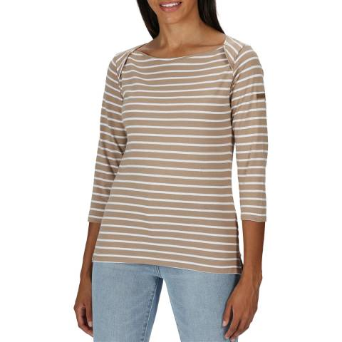 Regatta Brown Cotton Breton Top