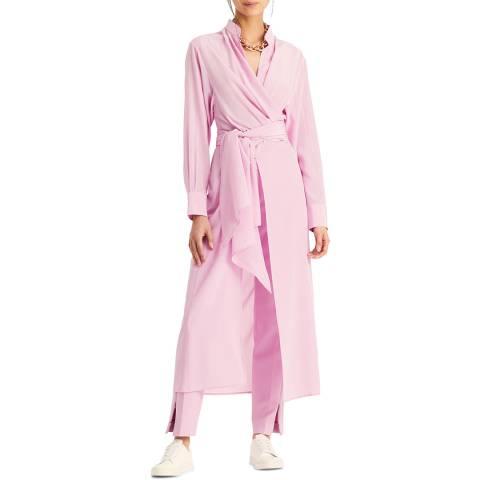 Amanda Wakeley Rose Air Tie Wrap Silk Top