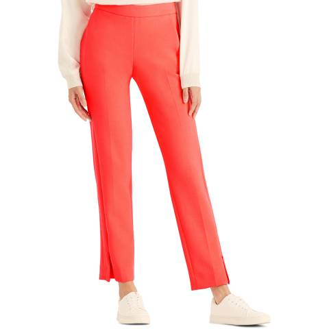 Amanda Wakeley Coral Sculpted Peg Trousers