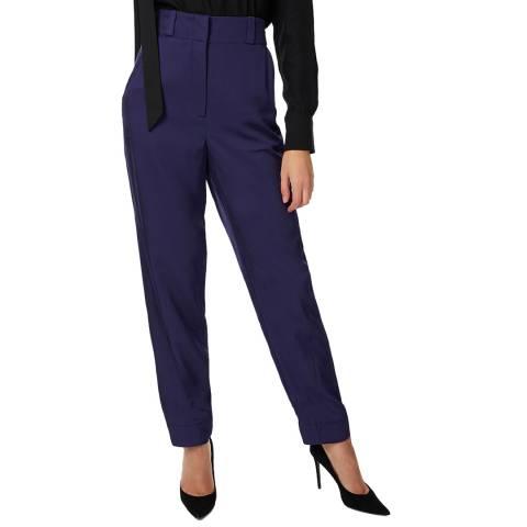 Amanda Wakeley Indigo Viscose Twill Trousers