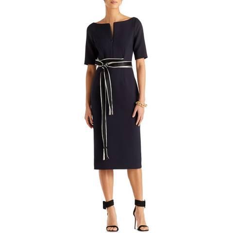 Amanda Wakeley Midnight Sculpted Tailoring Midi Dress
