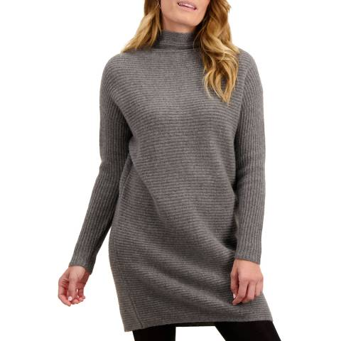 Loop Cashmere Charcoal Ribbed Cashmere Slouchy Dress
