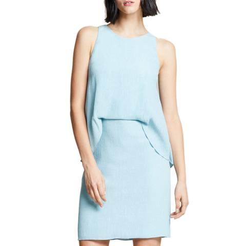 Halston Heritage Blue Twisted Crinkle Dress
