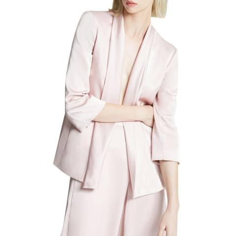 Halston Heritage Pink Scarf Front Blazer