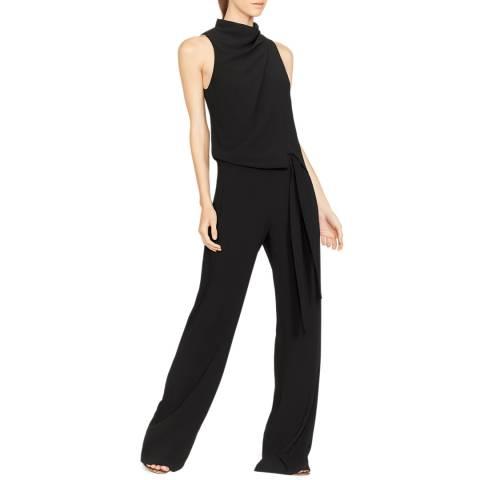 Halston Heritage Black Roni Cowl Drape Jumpsuit