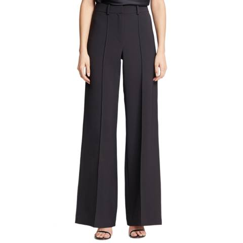 Halston Heritage Black Crepe Suiting Stretch Trousers
