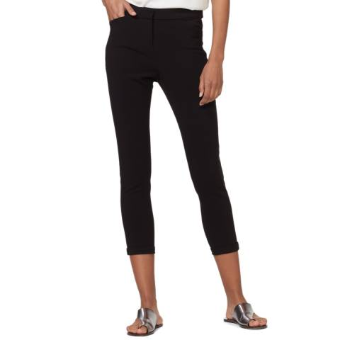 Halston Heritage Black Tapered Stretch Trousers