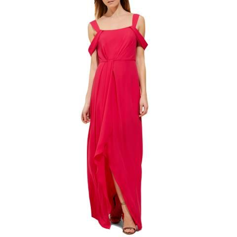 Halston Heritage Pink Flowy Maxi Dress