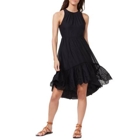 Halston Heritage Black Sleeveless High Neck Dress