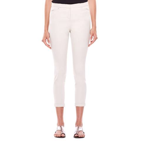Halston Heritage Baby Pink Tapered Stretch Trousers
