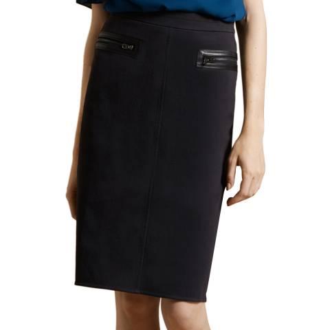 Halston Heritage Black Slim Pencil Skirt