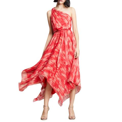 Halston Heritage Pink Braided Strap Dress