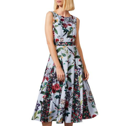Phase Eight Blue Trudy Patched Dress