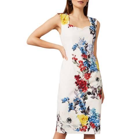 Phase Eight Ivory Keshena Floral Dress