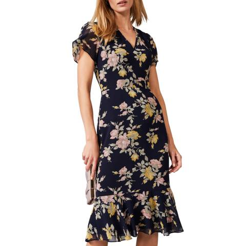 Phase Eight Navy Melissa Floral Dress