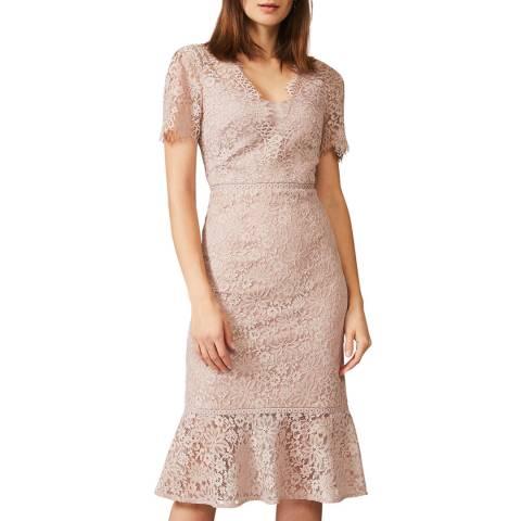Phase Eight Taupe Lorella Lace Dress