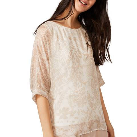 Phase Eight Cream Akeno Silk Blouse