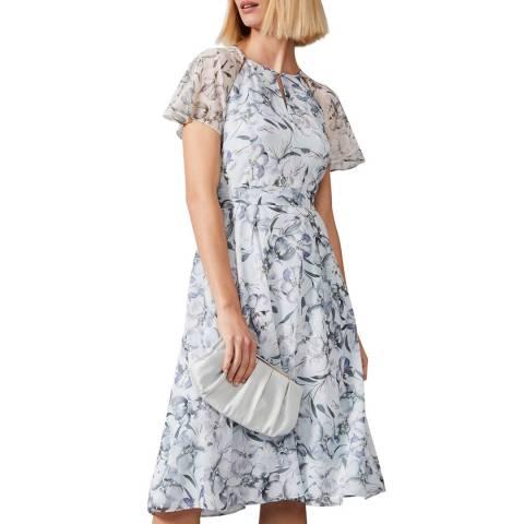 Phase Eight Blue Marlene Floral Dress