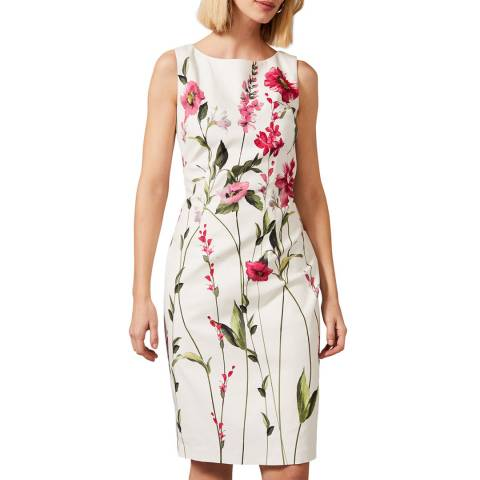 Phase Eight Ivory May Stem Rose Dress