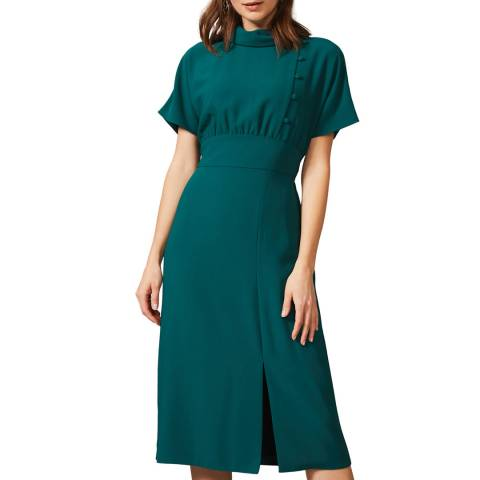 Phase Eight Green Aleandra Button Dress