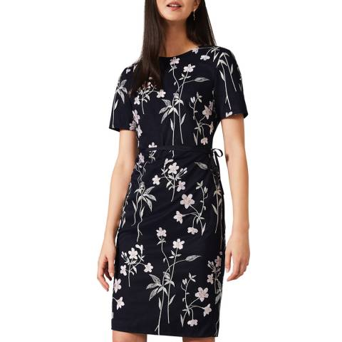 Phase Eight Navy Kirsty Petals Dress