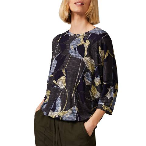 Phase Eight Navy Floral Paris Top