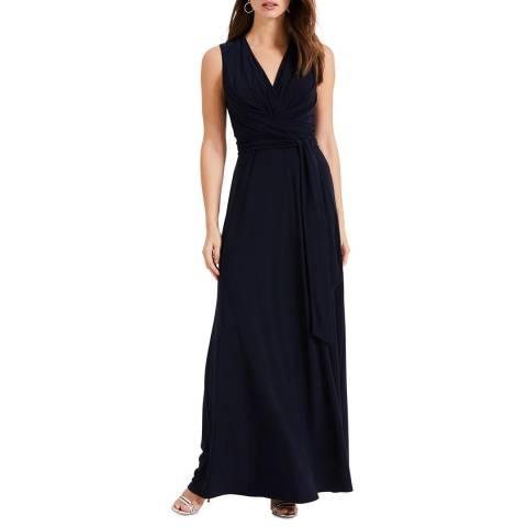 Phase Eight Navy Leila Tie Maxi Dress