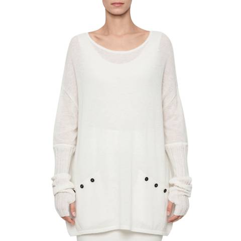 SARAH PACINI BOAT KNECK SWEATER – RIBBED SLEEVES