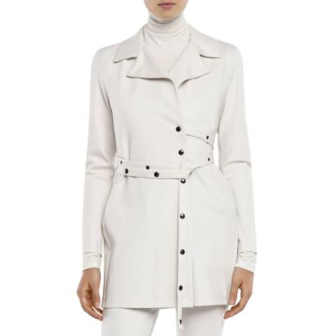 SARAH PACINI JERSEY JACKET – SNAP BUTTON BELT