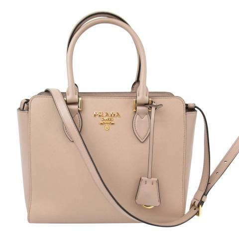 Prada Nude Leather Top Handle Bag
