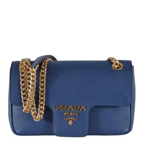 Prada Blue Leather Crossbody Bag