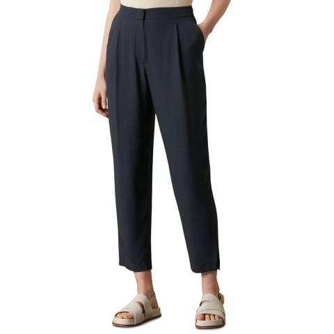 Jigsaw Slate Satin Back Trousers