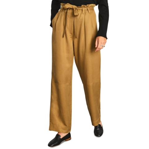 Jigsaw Taupe Soft Twill Utility Trousers
