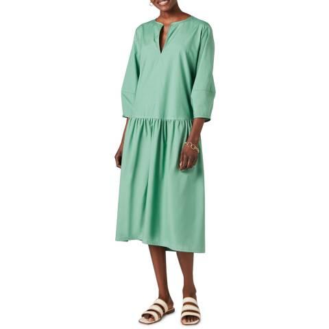Jigsaw Green Poplin Smock Dress