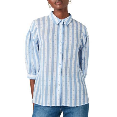 Jigsaw Ivory Textured Shirt