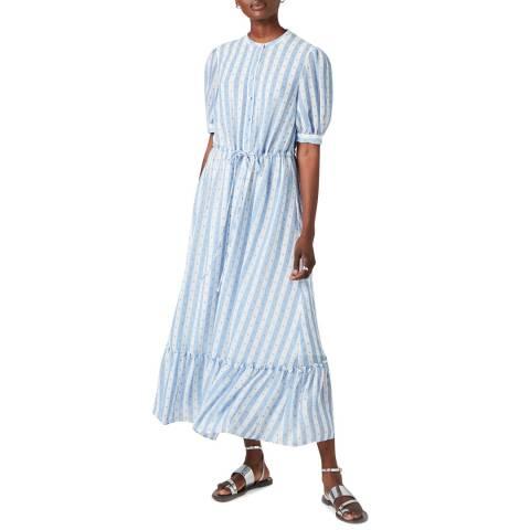 Jigsaw Ivory Drawstring Textured Maxi Dress
