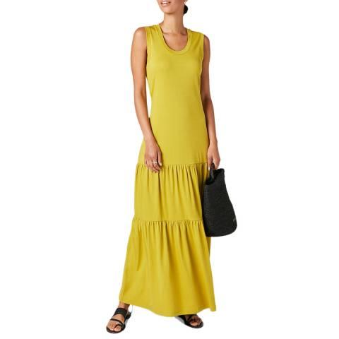 Jigsaw Khaki Sleeveless Tiered Maxi Dress