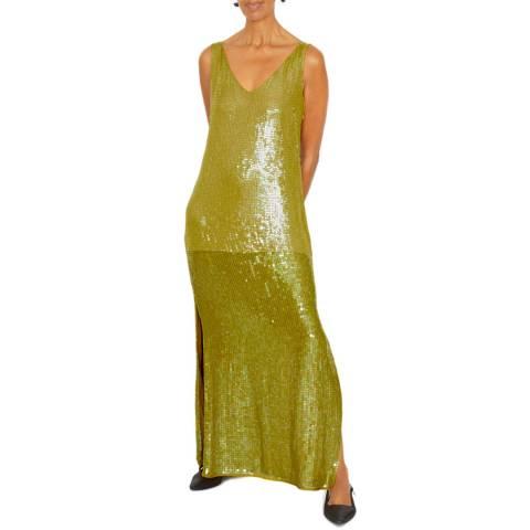 Jigsaw Green Sequin Slip Dress