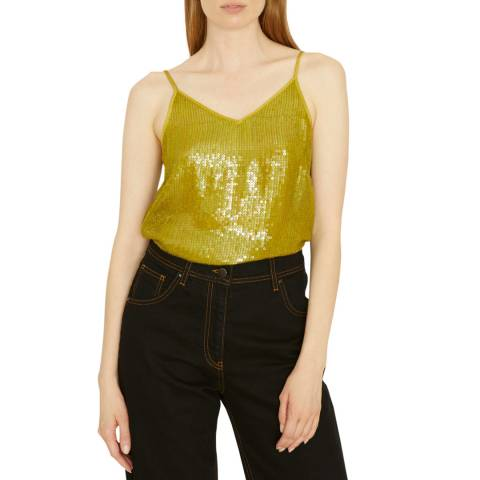 Jigsaw Green Sequin Cami Top