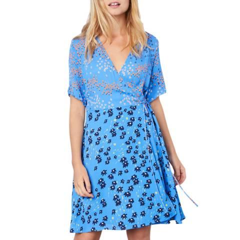 Jigsaw Blue Print Wrap Dress