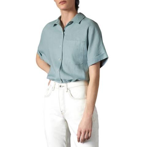 Jigsaw Black Short Sleeve Linen Shirt