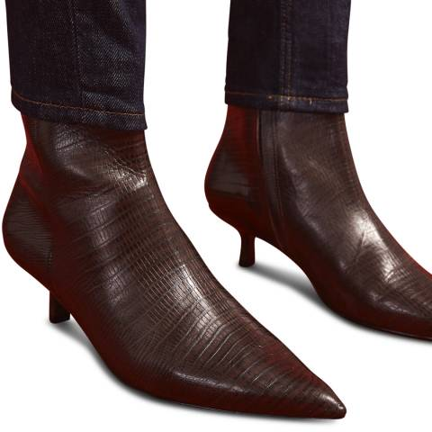 Jigsaw Brown Sandra Leather Ankle Boots