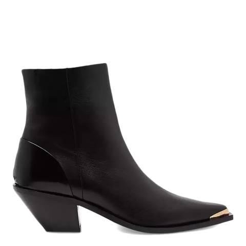 Jigsaw Black Wyatt Leather Western Boots