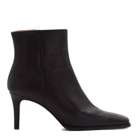 Jigsaw Black Calder Leather Ankle Boots