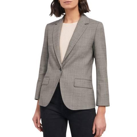 Jigsaw Grey Rye Crosshatch Wool Blend Blazer