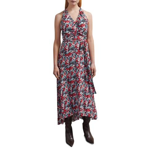 Jigsaw Navy Tapestry Floral Dress
