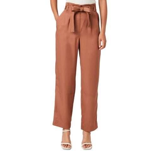 Jigsaw Brown Soft Twill Utility Trousers