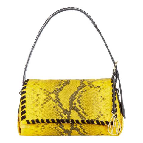 Amanda Wakeley Yellow Baguette Costner Small Bag