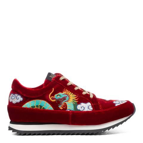 Charlotte Olympia Red Velvet Sneakers